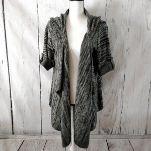 Torrid Black Gray Flecked Cardigan Sweater 1X